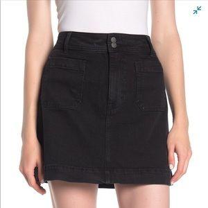 Madewell A-Line Denim front pocket Mini Skirt NWT